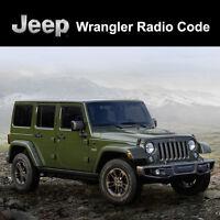 Jeep Radio Code Wrangler Unlock Decode Security Codes All Vehicles Fast Service