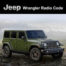 Código de radio Jeep Wrangler desbloquear decodificar los códigos de seguridad todos los vehículos de servicio rápido