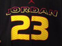 Vintage 90s Nike Michael Air Jordan 23 Shirt NBA Chicago Bulls NC Tar Heels