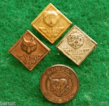 BOY SCOUT WWII II PRESSED MAGNETIC CUB PIN SET - RARE - CUBS BSA NOT CUB SCOUTS