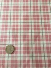 Moda Puttin On The Ritz Pink Plaid Check Cotton Quilting Fabric FQ 50cm X 54cm