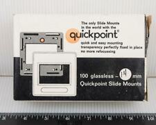 Quickpoint Glassless Slide Mounts Vtg Nos g50