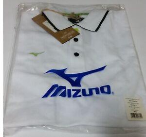 Mizuno Heritage 1906 Polo K2EA500101 White Fashion Retro Polo Vintage TAGLIA S