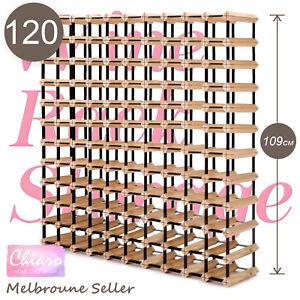 120 Bottle Timber Wine Rack Wooden Storage System Cellar Organiser Stand Display