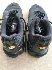 MENS NIKE AIR TN TRAINERS. BLACK SIZE UK8