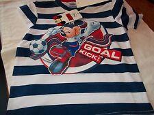 Disney Mickey Mouse Football WHITE / NAVY short sleeved T Shirt Age 4( 104 cm)