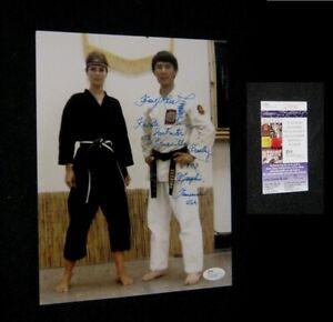 Original KANG RHEE SIGNED PHOTO With PRISCILLA PRESLEY In Karate Gi JSA COA