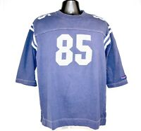 Tommy Jeans Mens Size M Vintage 90s 85 Football Jersey Spell Out Shirt Rare Blue