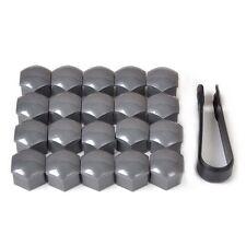 20x Wheel Lug Nut Bolt Center Cover Gray 17mm Caps & Tool for Audi Skoda Wonder