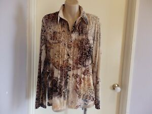 GORGEOUS SEVEN SISTERS VELVET BLOUSE TOP SIZE 3 STRETCH FABRIC