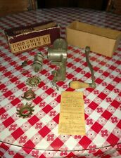 Vintage Universal Food & Meat Chopper No. 1 in original box with instructions