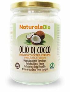NEW Olio di Cocco Biologico Extra Vergine 500 ml. Crudo e Spremuto a Freddo 100%
