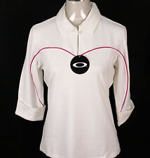 BNWT WOMENS OAKLEY HACKER STRETCH GOLF POLO SHIRT BLOUSE RRP£44 XSMALL WHITE NEW