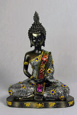 Buddha Statue with Silver/Gold Embellishments and Mosaic