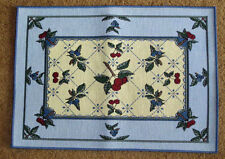 Cherry Berry ~ Blueberry & Cherry Tapestry Placemat