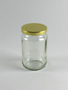 92 12oz Round Glass Jar for Food Jam Chutney Pickles Honey Favours Sweets
