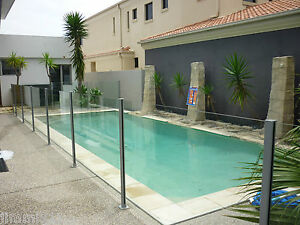 GLASS SEMI FRAMELESS POOL FENCING BY THE METER  - NEW SEASON SALE -