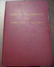 (PRL) ANTIQUE BOOK 1932 LIBRO ANTICO TELEGRAPHE CODE CODICE TELEGRAFICO NAVI