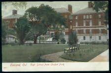 Postcard Oakland Ca High School View 1907