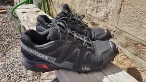 Salomon Speedcross 3 UK Size 10 Black  Mountain Trail Running outdoor Trainers