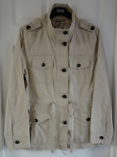 M&S Pure Cotton Military Jacket, Stone Colour, Size 14, BNWT, Was £45