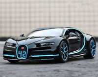 Bburago 1:18 Bugatti Chiron Black Diecast Model Racing Car Vehicle New in Box