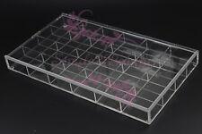 24Grid Clear Acrylic Organizer Container Rhinestones Jewelry Display Storage Box