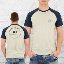 Billabong Herren Raglan T-Shirt Emblem beige navy Männer Nicki Men's Tee