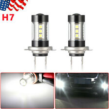 2 x H7 LED Fog/Driving Bulbs 4014 54 SMD 42W LED Car DRL White Light High Power
