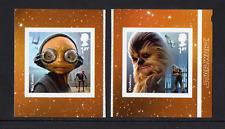 "2017 SG 4015-6 1st Maz Kanata & Chewbacca sa ex Guerra de las galaxias ""Aliens"" Comm bklet"