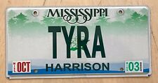"MISSISSIPPI   Thyra Tyree Tyrena Tyrene Tyria "" TYRA "" Banks BANK OF TYRA"
