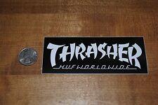HUF SF X Thrasher Magazine Black logo Sticker Supreme
