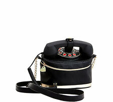 """NWT Betsey Johnson Black """"Kitch Telephone Crossbody Bag"""" SOLD OUT EVERYWHERE !!!"""