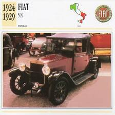 1924-1929 FIAT 509 Classic Car Photograph / Information Maxi Card