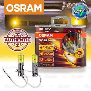 H3 OSRAM FOG BREAKER 2600K GELB Yellow NEBEL LICHT Scheinwerfer Halogen Lampen