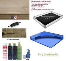 Queen Free Flow Waterbed Mattress Kit W/ Cotton Zipper Cover, liner & Heater