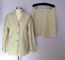 MARC AUREL Crema tailleur misto lana taglia 38 UK 8/10