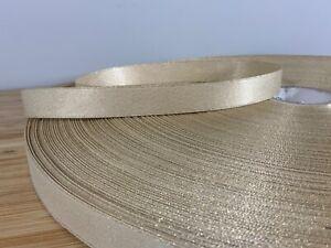 Thin Gold glitter Christmas ribbon woven metallic thread SOLD PER METER  UK