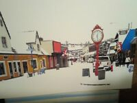 BEAUTIFUL POST CARD DOWNTOWN POULSBO IN WINTER  POULSBO WASHINGTON