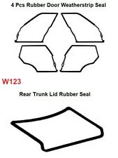 Mercedes Benz W123 - Door + Trunk Rubber Weatherstrip Seal Set 5 Pieces
