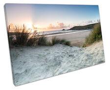 Crantock BEACH Newquay CANVAS Wall Art Picture grandi 75 x 50 cm