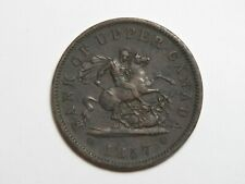 1857 Upper Canada One Penny - Canadian Bank Token