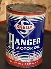1948++SKELLY+RANGER++1+QUART+TIN+MOTOR+OIL+CAN+TULSA+OKLAHOMA+WICHITA+KANSAS