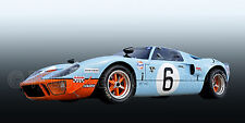1968 Ford SPF GT40 Le Mans Prototype Vintage Classic GT Race Car Photo CA-0748
