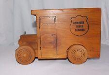 Vtg. 1976 Toystalgia Wooden Armored Truck Commercial & Savings Bank Promo Item