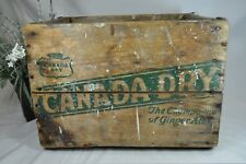 Vintage Canada Dry Ginger Ale Crate~Wooden Soda Box~London Ontario~1966