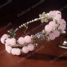 NEW! Fashion jewelry Tibet Tibetan silver Hibiscus jade ladies bracelet bangle