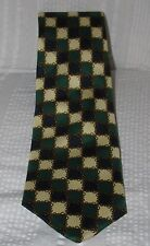 Vintage Vtg  BURBERRYS Tie Necktie BURBERRY Silk Navy Green Check Gold Chain