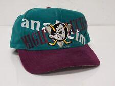 Vintage 90s Anaheim Mighty Ducks DISNEY Snapback Hat Cap RARE Crisscross LOGO 7