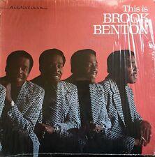 BROOK BENTON This Is ORIGINAL 1976 USA Vinyl LP ALL PLATINUM Soul Label